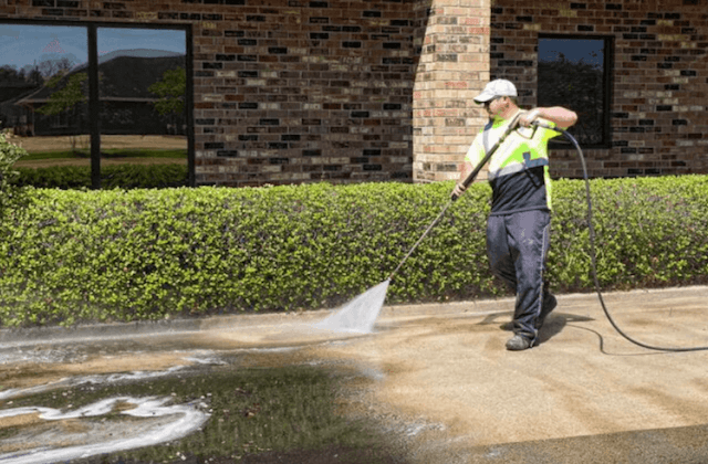 commercial concrete cleaning in garden grove